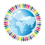 Community of people joined around the globe eps10 Stock Photo