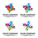 Community people logo vector concept Stock Photography