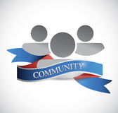 Community people and ribbon illustration design Stock Photography