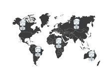 Community people of the world. Vector illustration design Royalty Free Stock Images