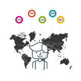 Community people of the world. Vector illustration design Royalty Free Stock Image