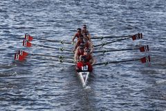 Community Rowing Inc races in the Head of Charles Stock Photo