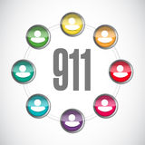 911 community sign concept illustration. Design over white vector illustration