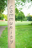 Community sign Stock Photos