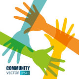 Community and social vector illustration