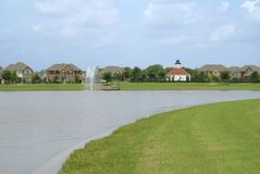 Community subdivision lake Royalty Free Stock Image