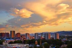 Community sunset, Beijing Stock Photography