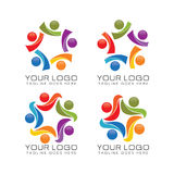 Community and team work logo Royalty Free Stock Photos