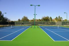 Community Tennis Court Stock Images