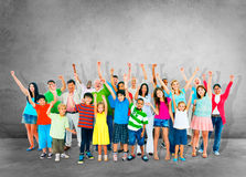 Community Togetherness Children Multiethnic Cheerful Happiness C Royalty Free Stock Photos