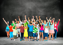 Community Togetherness Children Multiethnic Cheerful Happiness C Royalty Free Stock Photo