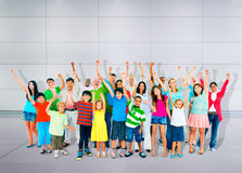 Community Togetherness Children Multiethnic Cheerful Happiness C Royalty Free Stock Photography