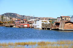 A community on the water in Sausalito Stock Images