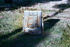 community well in Russian village stock photography
