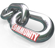 Community Word Chain Links Society Together Diverse Groups Royalty Free Stock Images