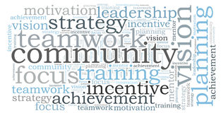 COMMUNITY word cloud Royalty Free Stock Image