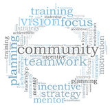 COMMUNITY word cloud Royalty Free Stock Photo