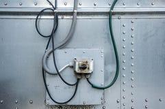 Commutateur électrique sale dans une usine Images stock