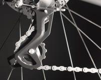 Commutateur arrière de vitesse de vélo de montagne images stock
