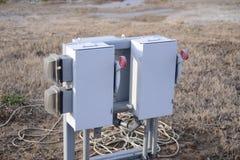 Commutateur-boîte de courant électrique Image libre de droits
