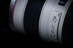 Commutateur d'AF/MF de téléobjectif Photos stock