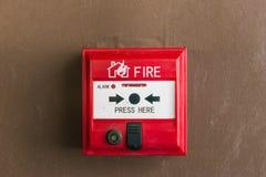 Commutateur d'alarme d'incendie Photos stock