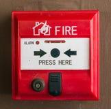 Commutateur d'alarme d'incendie Photo stock