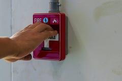 Commutateur d'alarme d'incendie Photos libres de droits