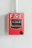 Commutateur d'alarme d'incendie Images libres de droits