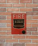Commutateur d'alarme d'incendie photo libre de droits