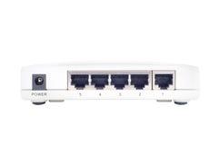 Commutateur d'Ethernet sur le fond blanc Image stock