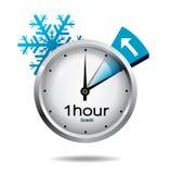 Commutateur d'horloge à l'horaire d'hiver Photo stock