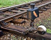 Commutateur de chemin de fer photo libre de droits