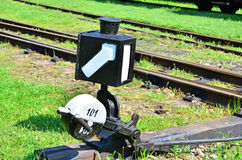Commutateur de chemin de fer photos libres de droits