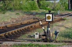 Commutateur de chemin de fer photographie stock libre de droits