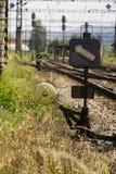 Commutateur de chemin de fer Images libres de droits