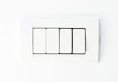 Commutateur de lumières blanches photo libre de droits