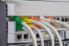 Commutateur de panneau de LAN image stock