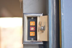 Commutateur de porte de garage Photo libre de droits