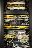 Commutateur de réseau et câbles d'Ethernet Image libre de droits