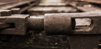 Commutateur de rail photos stock