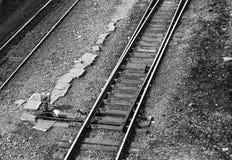 Commutateur de rail photographie stock