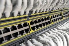 Commutateur de Smart de gigabit de réseau photo libre de droits