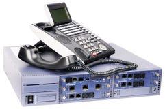 Commutateur de téléphone et poste téléphonique photos stock
