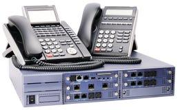 Commutateur de téléphone et téléphones digitaux Photos stock