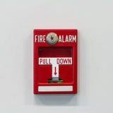 Commutateur de traction d'alarme d'incendie photos stock