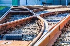 Commutateur de tram dans le dépôt image stock