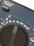 commutateur digital différent de multimètre de mesure Images libres de droits