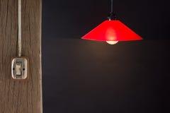 Commutateur et lampe images stock