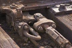 Commutateur ferroviaire Images stock
